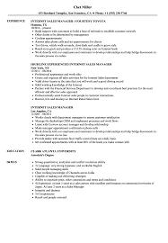 Sales Manager Resume Internet Sales Manager Resume Samples Velvet Jobs 46