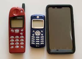 motorola phone models. from left to right: nokia phone the late 90\u0027s, early 2000\u0027s; motorola models 2