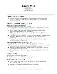 Good Objective For Customer Service Resume Customer Service Objective Good Objective Statement For Resume For