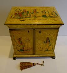 Jewellery Cabinet Uk Antique English Regency Chinoiserie Jewellery Cabinet C1820
