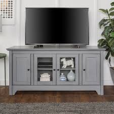 console tv stand. Perfect Console Walker Edison Furniture Company 52 In Antique Grey Storage Console Wood  Media TV Stand Throughout Tv L