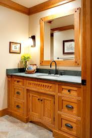 custom bathroom cabinets by Mullet Cabinet in Millersburg, Ohio.maybe Arts  and Crafts instead of shabby chic?