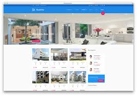 top html real estate website templates colorlib realsite material design real estate template