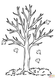 Fall Tree Coloring Page Free Printable Coloring Pages Autumn