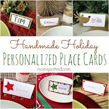 Holiday Placecards Handmade Holiday Place Cards