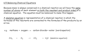 6 5 balancing chemical equations