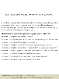 Lawyer Resume top10000personalinjurylawyerresumesamples10000lva100app61000092thumbnail100jpgcb=100100331005632100 70