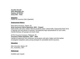 Cover Letter Examples For Insurance Company Antiquechairs Co
