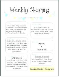 Household Cleaning Chore Chart Printable House Cleaning Checklist Templates Template Lab