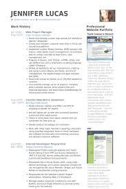 Web Project Manager Resume Samples Visualcv Resume Samples Database