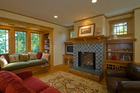 decking with seating built in family room craftsman with tile fireplace surround tile fireplace surround ceiling lighting