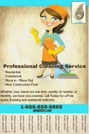 Cleaning Service Templates Housekeeper Flyers Templates Rome Fontanacountryinn Com
