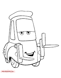 cars the movie characters coloring pages. Fine Characters Coloring Page Guido With Cars The Movie Characters Coloring Pages C
