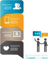 Modern Infographics Bubble Speech Template Style Free Vector
