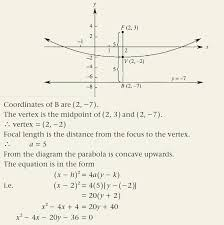 find the coordinates of the vertex and the focus and the equation of the directrix of the parabola with equation