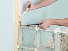glass block furniture. Use Reinforcing Rod Between Layers Of Glass Blocks Block Furniture