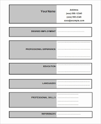 Plain Resume Templates Free Blank Resume Templates Unique 46 Blank Resume Templates