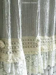 burlap country curtains shabby chic shower curtain tutorial primitive burlap shower curtain