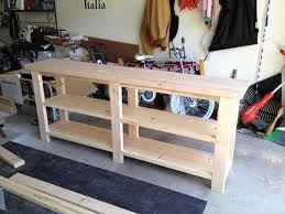 diy sofa table plans two toned console table free and easy diy