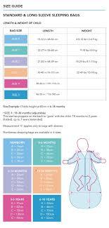 Aden And Anais Sleep Sack Size Chart Baby Sleeping Bag Size Guide Newborn Sleeping Bag Baby