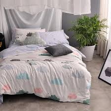 cute bed comforters. Brilliant Comforters 100 Cotton Kids Girls Cute Bedding Set Single Double King Queen Twin Size  Clouds Bed Duvet Cover Bedsheet Pillowcases Cheap Comforters  And DHgatecom