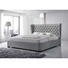 luxeo manchester gray king upholstered bedluxkgry  the