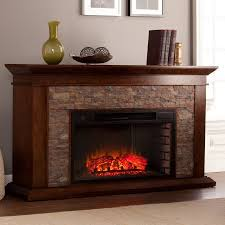 Amazoncom SEI Tennyson Electric Fireplace With Bookcases Southern Enterprises Fireplace