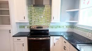 lime green and fl linear glass tile kitchen backsplash 1
