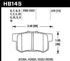 Details About Disc Brake Pad Set Ex Rear Hawk Perf Hb145f 570