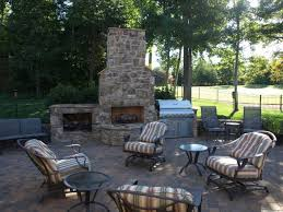 paver patio outdoor fireplace and grill charlotte nc