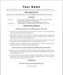 Sample Resume Of A Receptionist Sample Of A Receptionist Resume Best