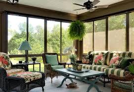 wicker sunroom furniture. Designs Ideas:Modern Sunroom With Wicker Furnitures And Modern Table Lamp Dark Floral Furniture E