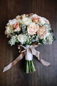 flower bouquets for weddings. rose gypsophila white blush bouquet ribbon bow flowers bride bridal chic hollywood glamour wedding www. flower bouquets for weddings pinterest