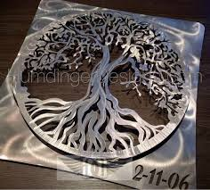 >tree of life metal wall art humdinger designs tree of life 3d brushed aluminum