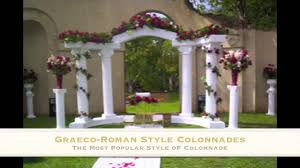 Columns For Decorations Wedding Columns Empire Columns And Colonnades Youtube