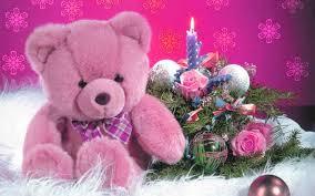 cute pink teddy bear wallpaper