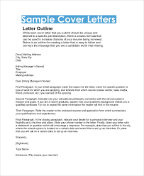 9 Sample Cover Letter Formats Sample Templates
