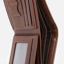 photo leather men s trifold wallet