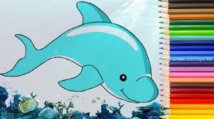 Hướng Dẫn Cách Vẽ Con Cá Heo Dễ Thương Đơn Giản Rất Chi Tiết - YouTube