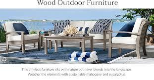 Wood outdoor patio furniture Black Wood Outdoor Furniture Jordans Furniture Outdoor Wood Furniture Wood Patio Furniture Pottery Barn