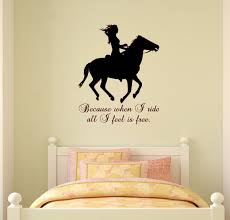 on horse wall decor stickers with horse wall decal horse quote sticker horse decal for girls