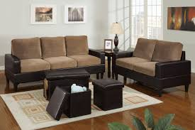 Microfiber Living Room Set Bob Kona 5 Piece Livingroom Set In Saddle Tan Microfiber And