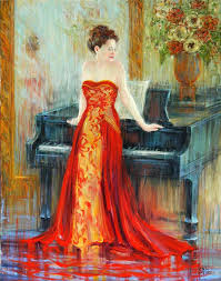 saatchi art artist september mcgee painting piano series the singer iii