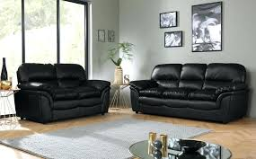 gallery black leather sofa corner recliner suite
