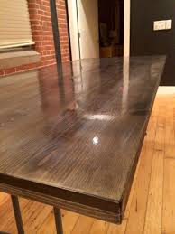 ebony staining diy kitchen table red autumn homemade wooden tables dining mrs amber apple top wood projects making timber short furniture diagrams made from