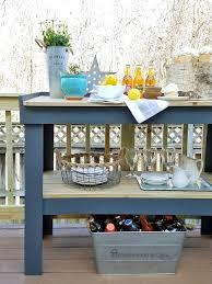 diy outdoor serving cart