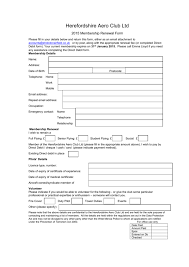 Membership Renewal Form 2015 Word Format