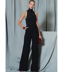 Jumpsuit Pattern Vogue Classy Vogue Pattern V48 Misses' OpenBack Banded JumpsuitSize 4848