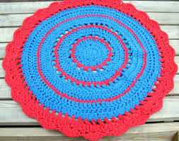 red and turquoise area rug