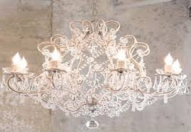 image of shabby chic chandelier white